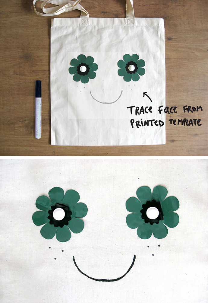 DIY Flower Power Tote Bag