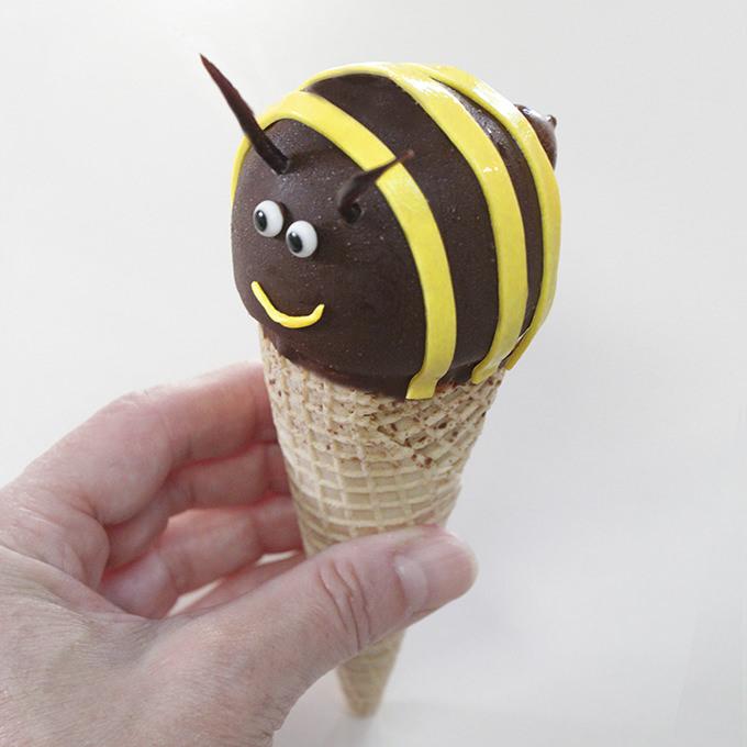 Bee Ice Cream Cones