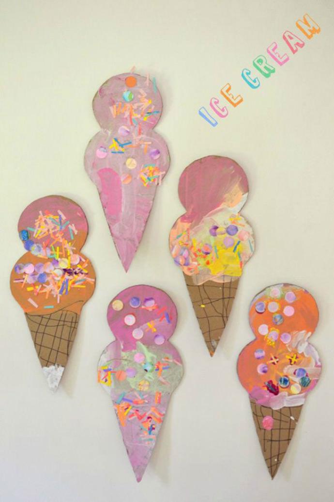 DIY Ice Cream Cone Collage via Art Bar Blog