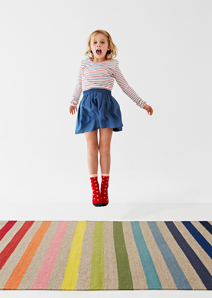 Handmade Butterfly Rug for Kids by Armadillo & Co