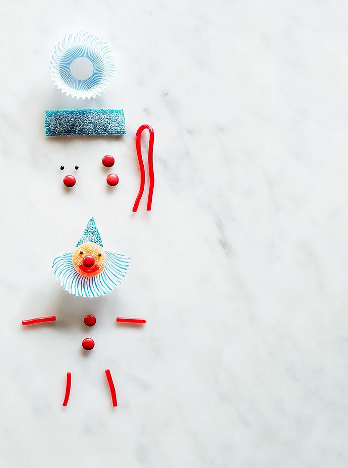 DIY Clown Cupcake Topper