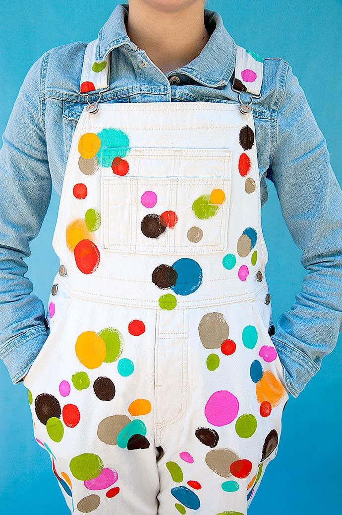 FolkArt Paint DIY Polka Dot Overalls