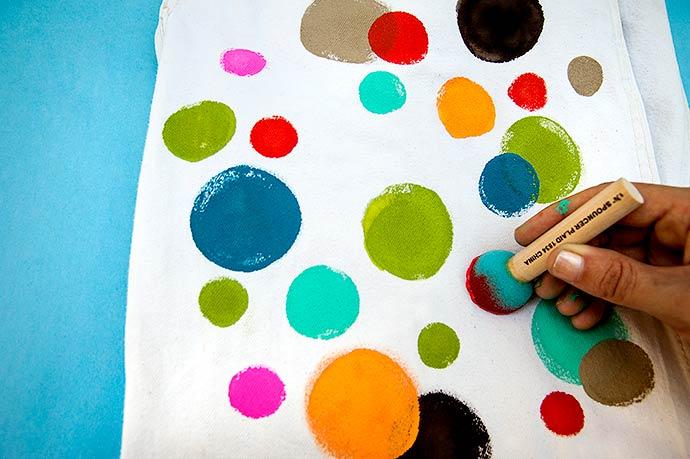 Plaid FolkArt Paint Polka Dot DIY Overalls