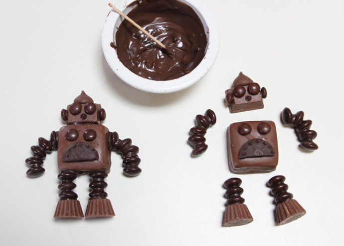 DIY Chocolate Robots