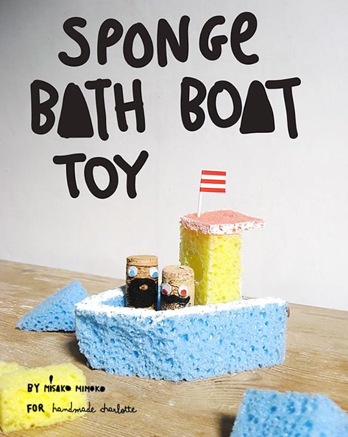 DIY Sponge Bath Boat