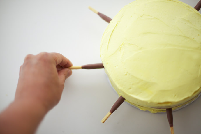 Kawaii Sun Cake Tutorial