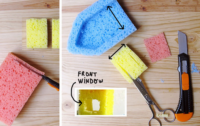 DIY Sponge Bath Boats