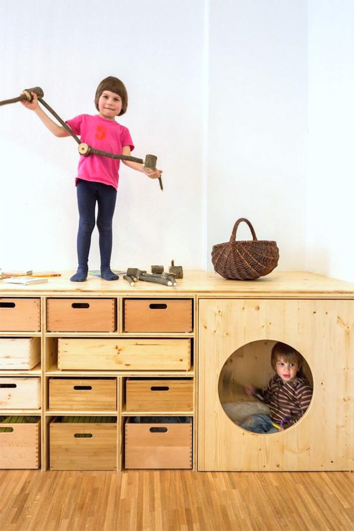 Super fun storage for kids via  the contemporist