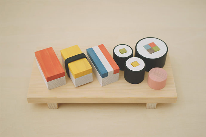 Wooden Sushi Play Food Set