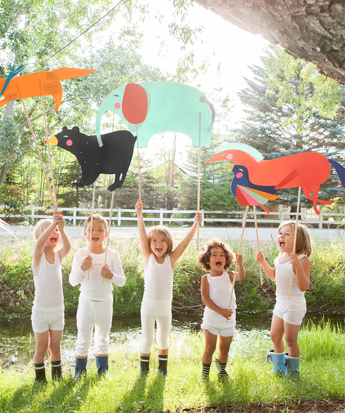 DIY Paper Animal Puppets (via the new Playful book by Merrilee Liddiard)