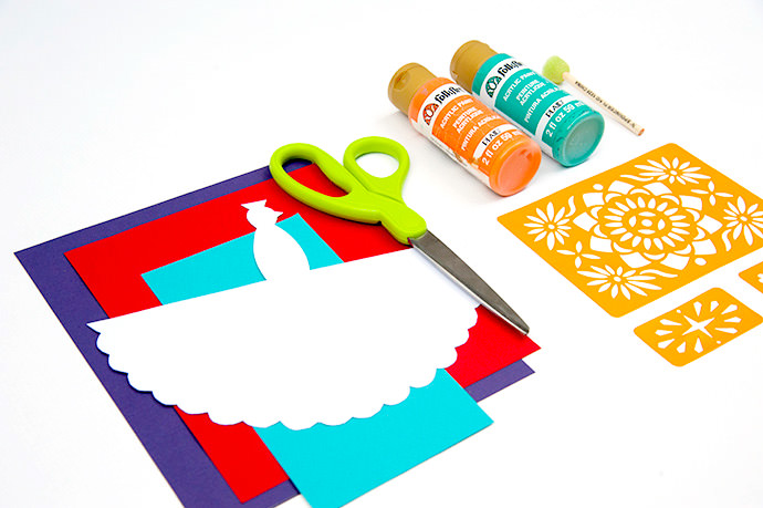 Electric Peacock Fiesta Cards for Kids