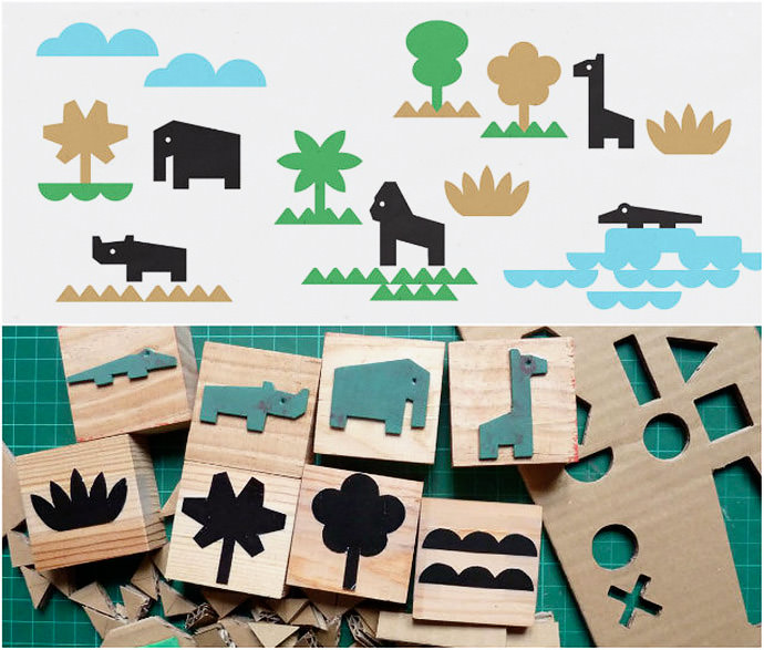 Jungle Stamp Set by Heroine Paper Goods