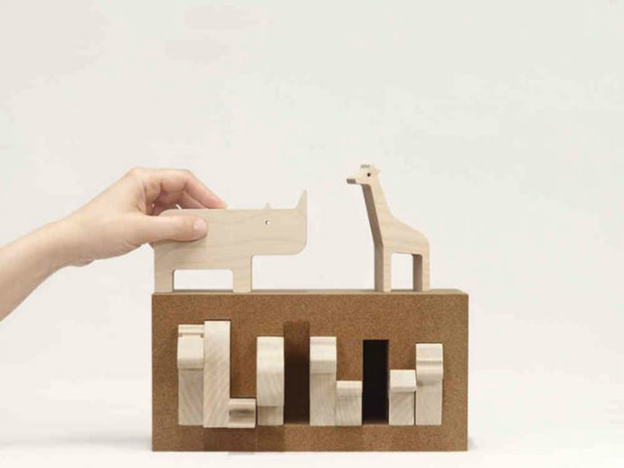 Clever Jungle Animal Box Toy from Bleebla