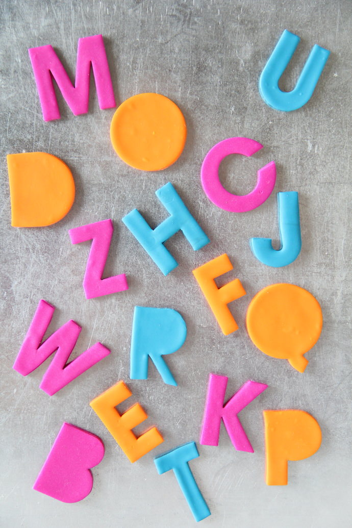 DIY Alphabet Magnets
