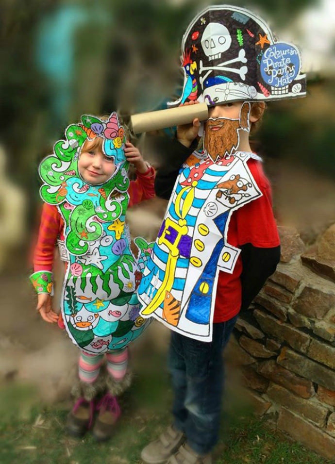 Color-In Fancy Dress Costumes from Eggnog