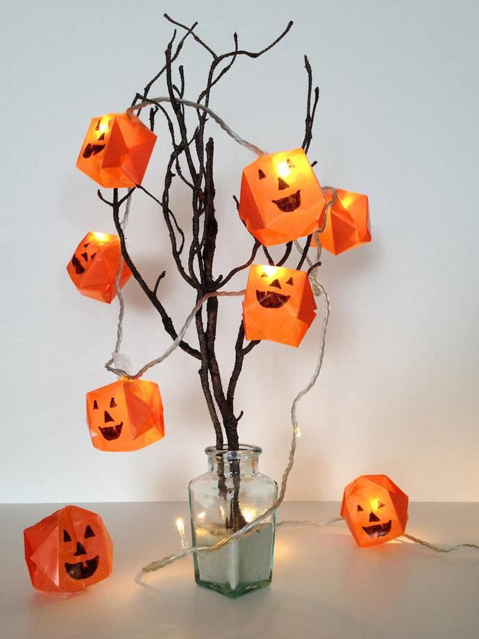 DIY Origami Halloween Lights