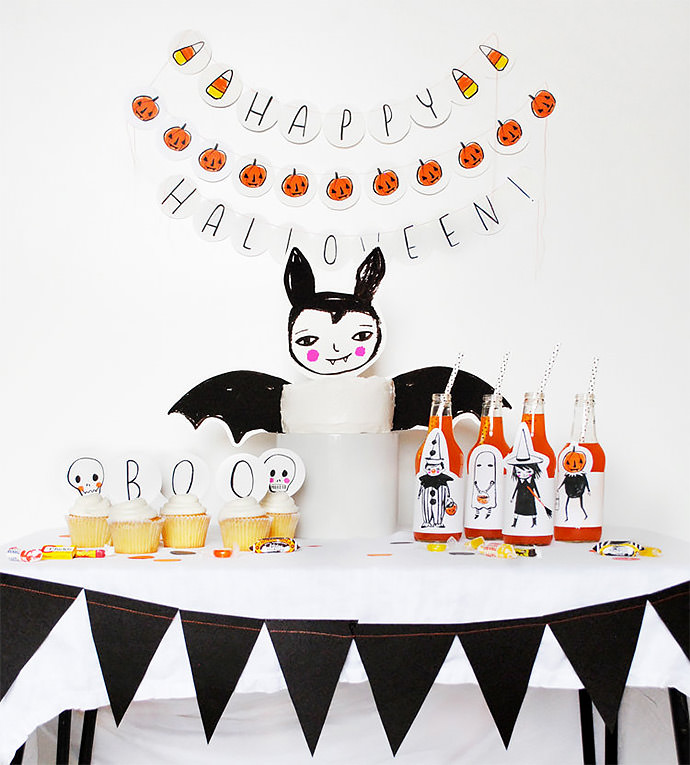Halloween Party Pack Printables (via Tuesday Mourning on Etsy)