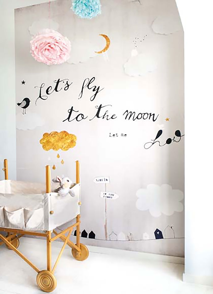 Playful nursery wallpaper by Oneszelf