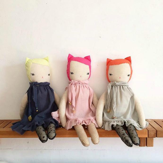 Perfect for the dark winter months, neon nina dolls by Boramiri