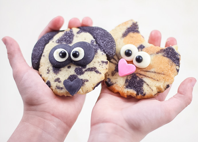 DIY Calico Cat and Dalmatian Cookies