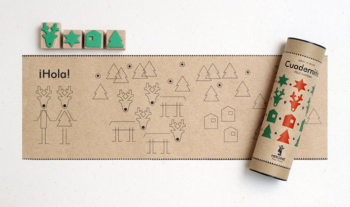Perfect children's stamp set for Christmas travels from Heroine Paper Goods