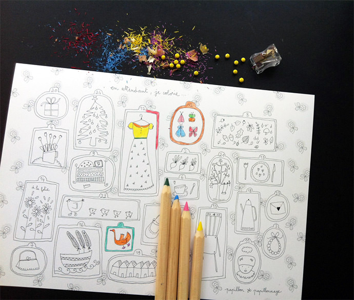 Color-in the days till Christmas with these sweet French Advent prints