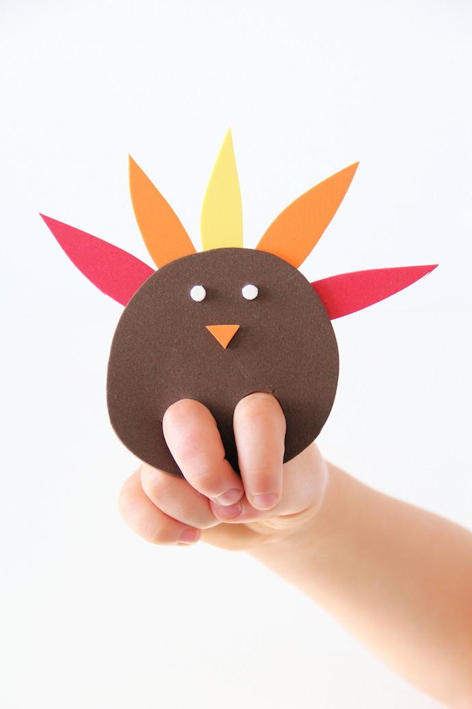 DIY Turkey Finger Puppet