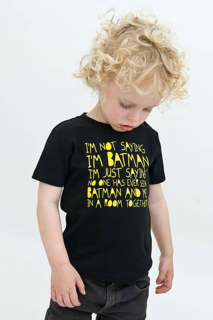 Maybe your little one's Batman after all, nudge, nudge, wink, wink!