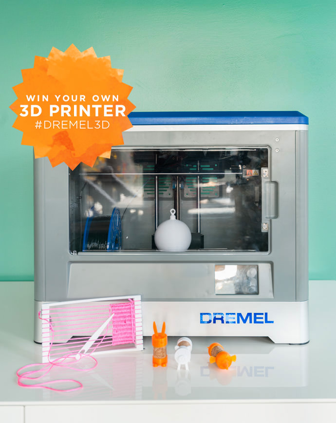 Win your own 3D printer! #Dremel3D