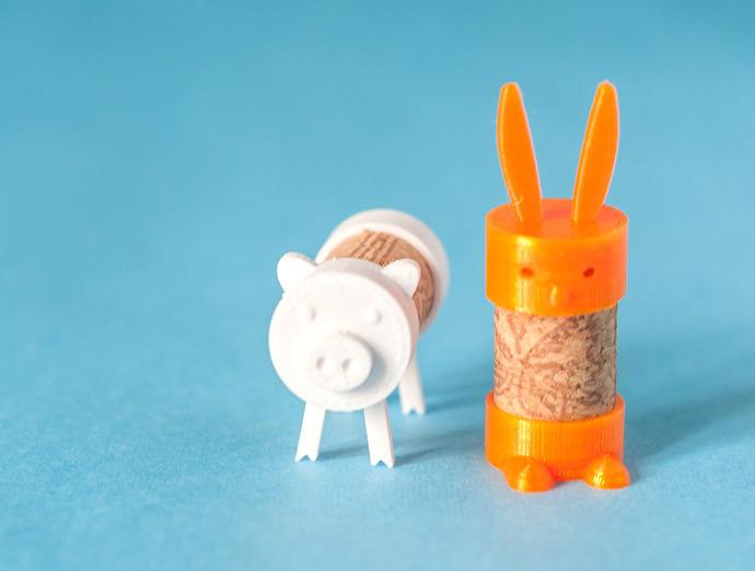 3D printable cork animals for kids