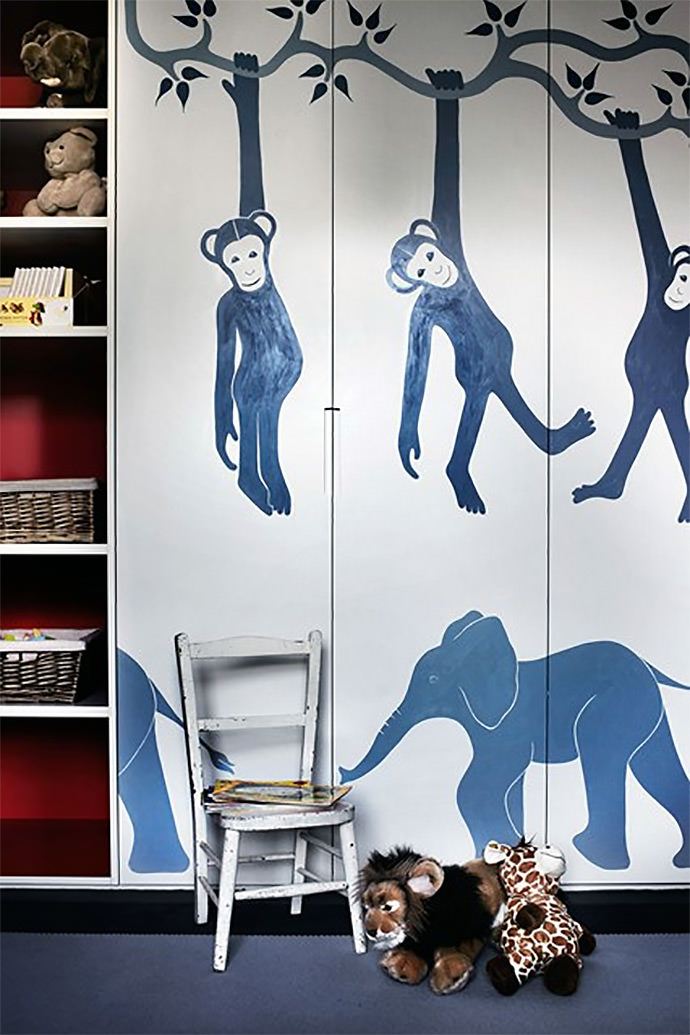 Jungle Cabinet Mural
