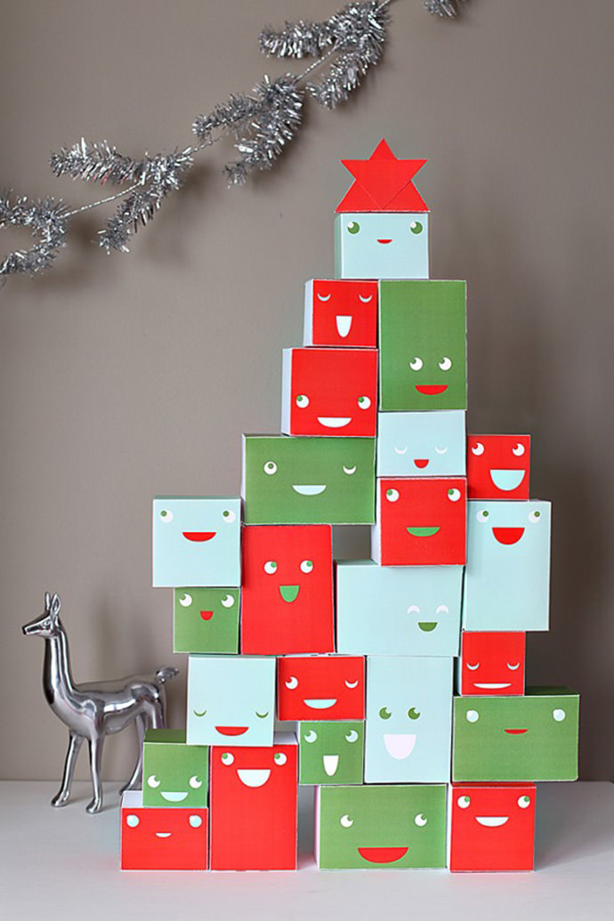Stackable Advent Calendar Printable by Smallful