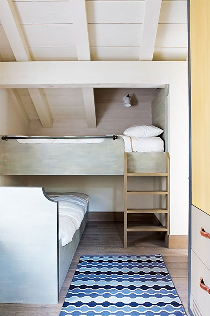 Uniquely Stacked Bunk Beds