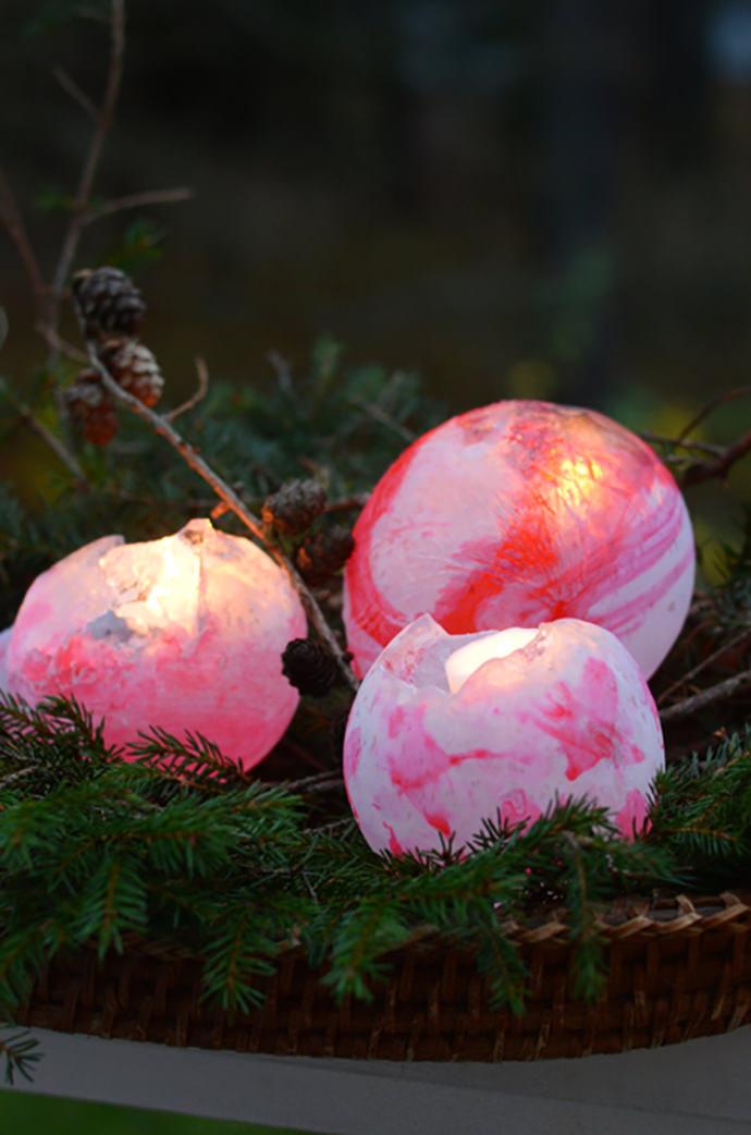 DIY Painted Ice Lanterns