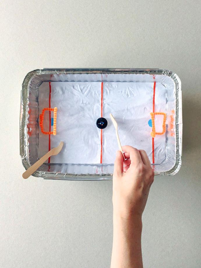DIY Tabletop Ice Hockey Rink