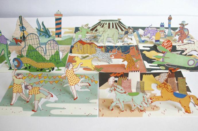 Pop-up cards by Paris illustrator Julia-Spiers