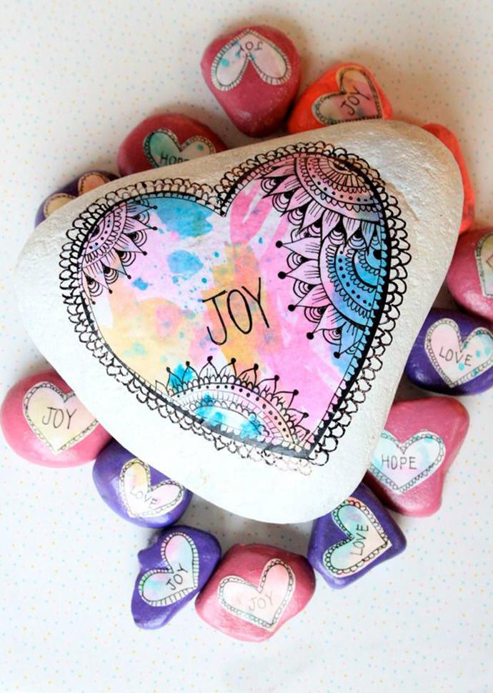 Easy Valentine's Day Rock Craft