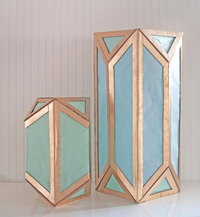 How to make DIY Cardboard Lanterns for kids
