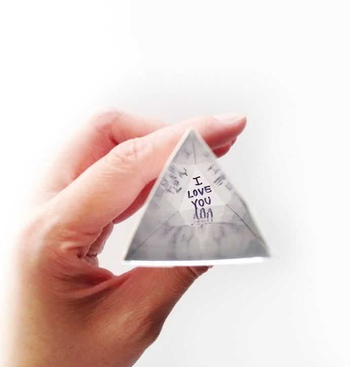 DIY Valentine's Kaleidoscope with a Secret Message Hidden Inside