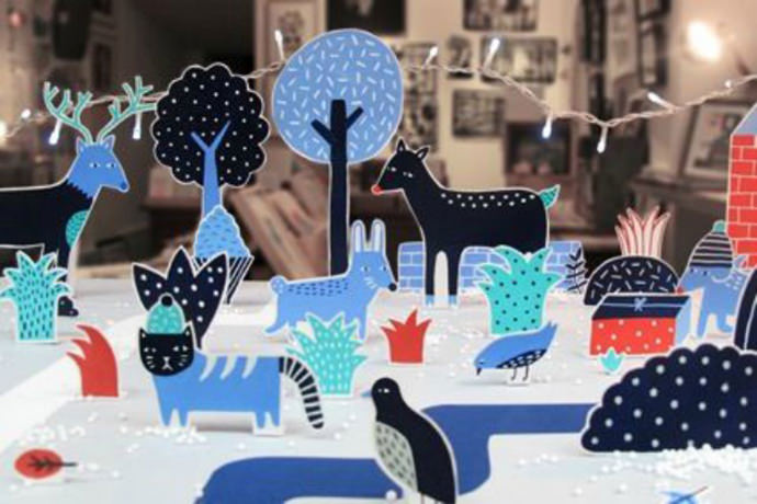 Pop-up window display by French illustrator Steffie Brocoli