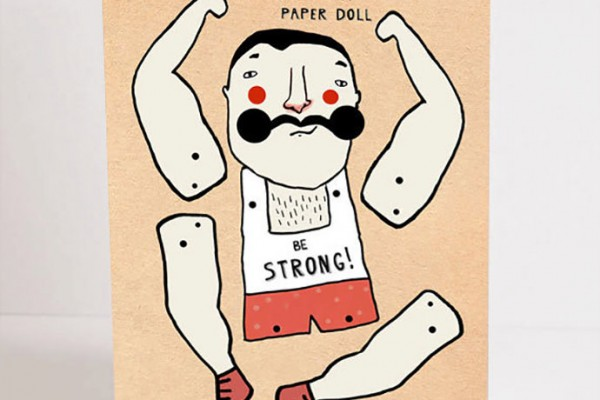 DIY Muscle Man Paper Doll