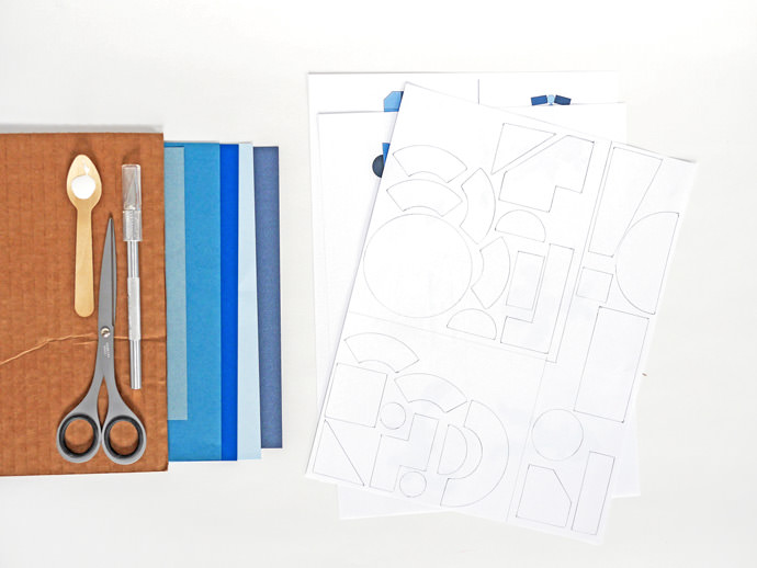 DIY Geometric Cardboard Game