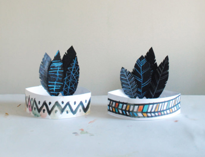 Paper Feather Headbands