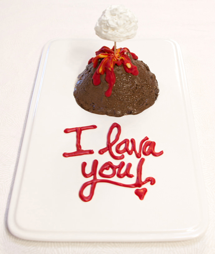 Volcano Valentine's Ice Cream Dessert