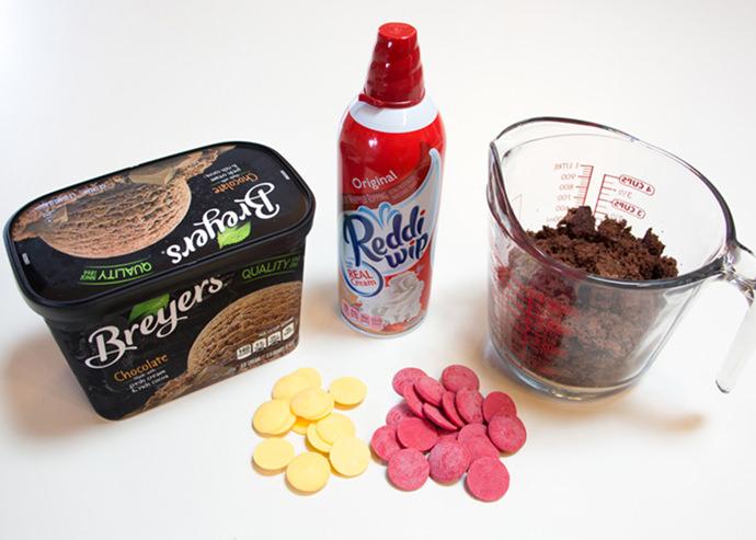 Volcano Valentine's Ice Cream Dessert Ingredients