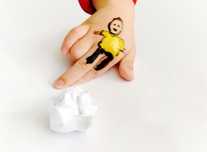 DIY Painted Soccer Player Hand Puppet