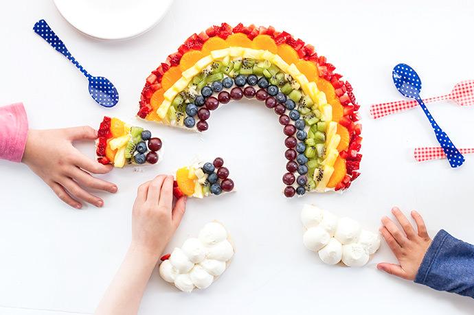 Rainbow Fruit Tart Recipe