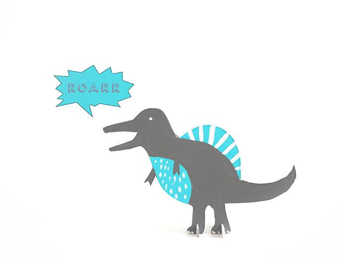 Printable Dinosaur Cut-Out Toys