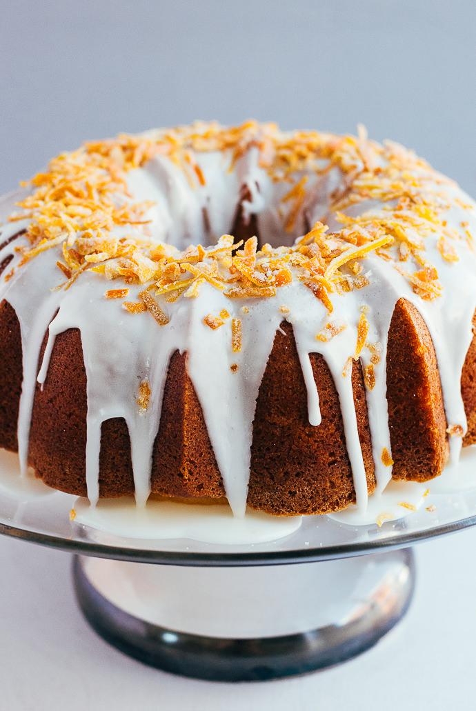 Easy Citrus Pound Cake with Candied Orange Peel