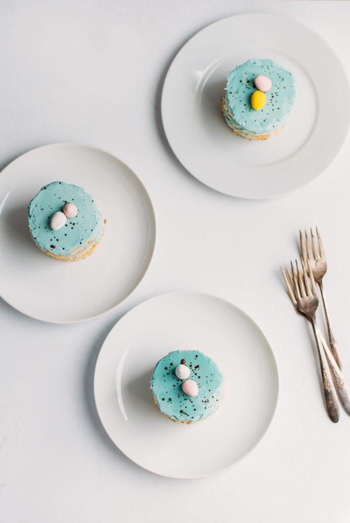 Robin's Egg Blue Mini Cakes